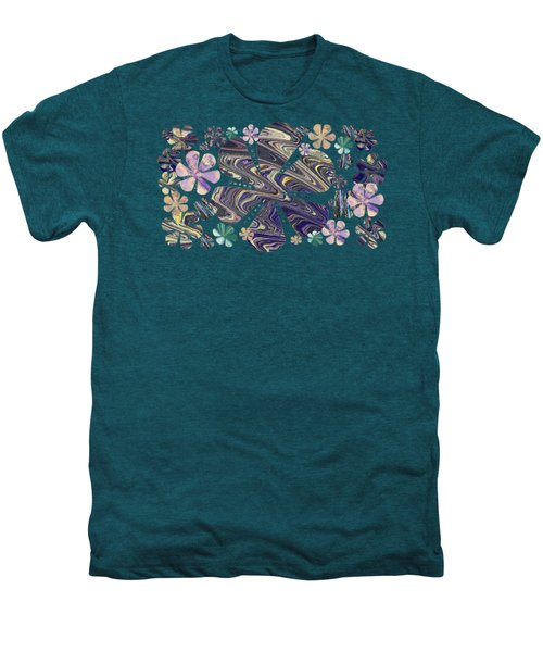 A Field Of Whimsical Flowers Men's Premium T-Shirt