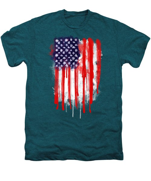 American Spatter Flag Men's Premium T-Shirt by Nicklas Gustafsson