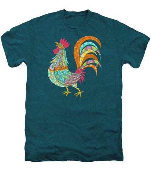 An Artful Rooster  Men's Premium T-Shirt