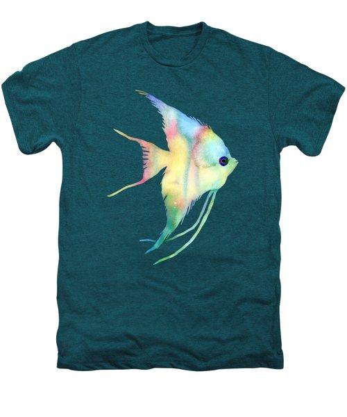 Angelfish I - Solid Background Men's Premium T-Shirt by Hailey E Herrera