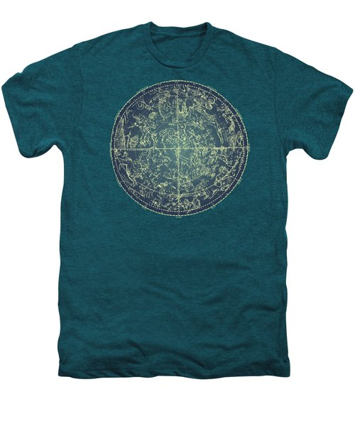 Antique Constellation Of Northern Stars 19th Century Astronomy Men's Premium T-Shirt