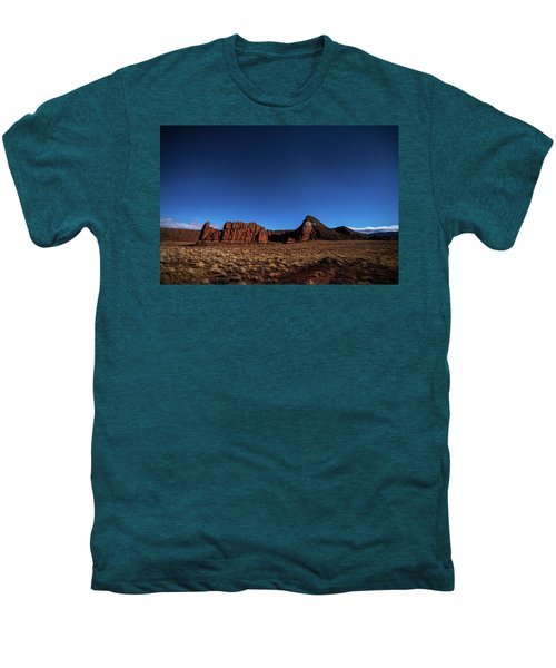 Arizona Landscape At Night Men's Premium T-Shirt