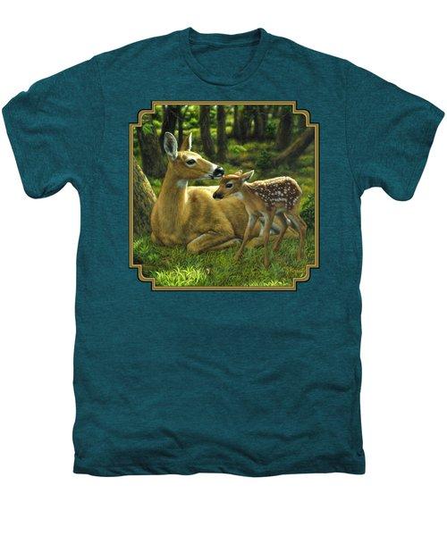 Whitetail Deer - First Spring Men's Premium T-Shirt
