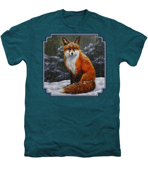 Snow Fox Men's Premium T-Shirt by Crista Forest