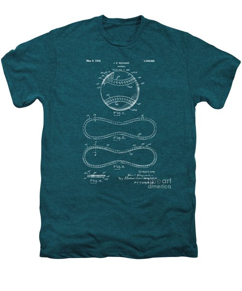 1928 Baseball Patent Artwork - Blueprint Men's Premium T-Shirt by Nikki Smith