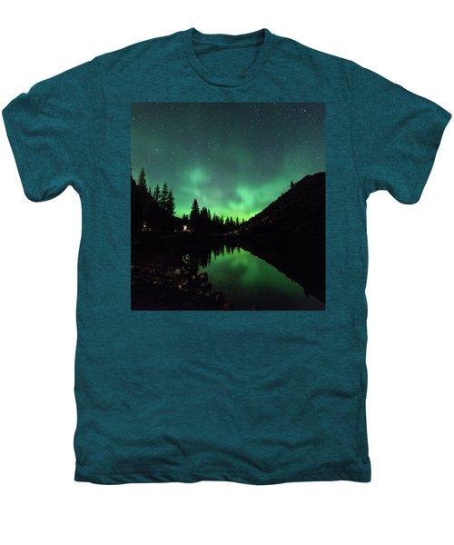 Aurora On Moraine Lake Men's Premium T-Shirt by Alex Lapidus