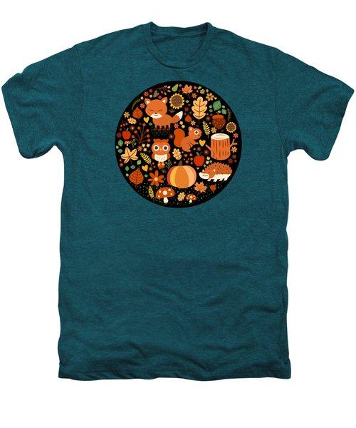 Autumn Party For Forest Friends Men's Premium T-Shirt