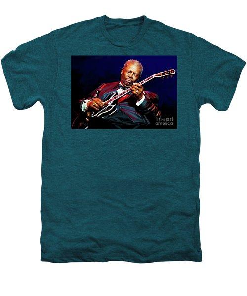 Bb King Men's Premium T-Shirt by Paul Tagliamonte