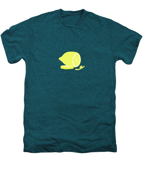 Big Lemon Flavor Men's Premium T-Shirt by Little Bunny Sunshine
