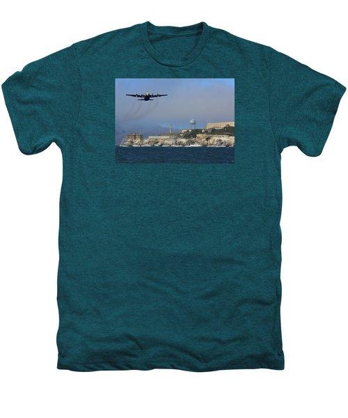Blue Angels C130 Fat Albert Passes Alcatraz Men's Premium T-Shirt