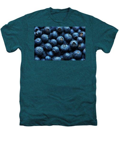 Blueberries Background Close-up Men's Premium T-Shirt