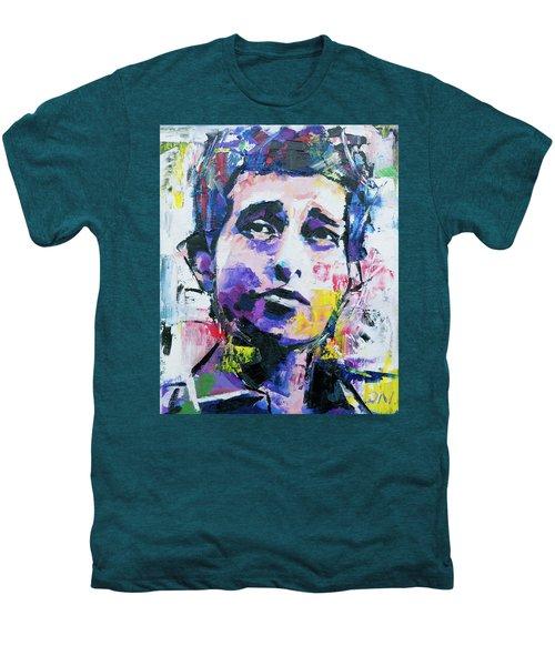 Bob Dylan Portrait Men's Premium T-Shirt by Richard Day