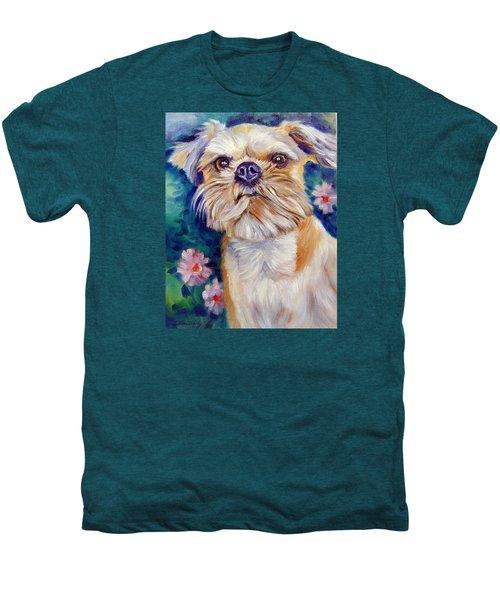 Brussels Griffon Men's Premium T-Shirt by Lyn Cook