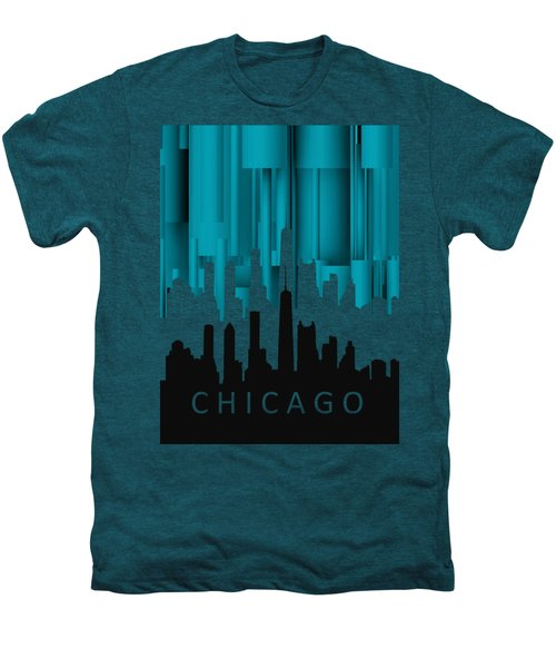 Chicago Turqoise Vertical In Negetive Men's Premium T-Shirt by Alberto RuiZ