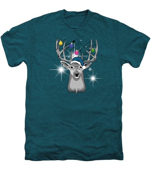 Christmas Deer Men's Premium T-Shirt by Mark Ashkenazi