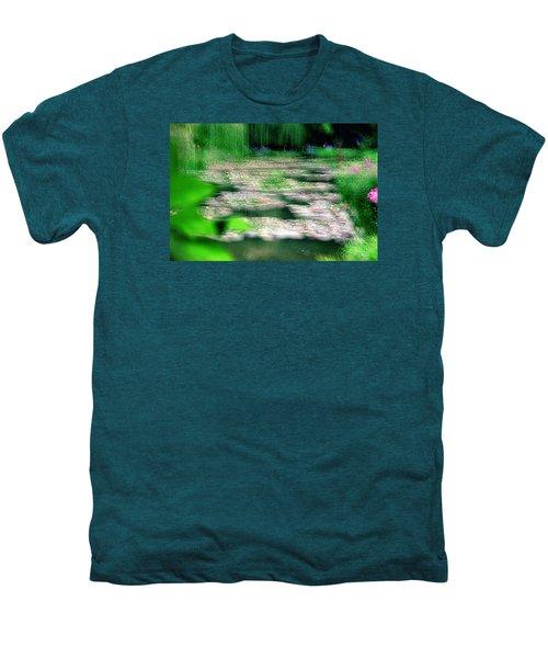 Men's Premium T-Shirt featuring the photograph Claude Monets Water Garden Giverny 1 by Dubi Roman