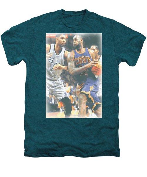Cleveland Cavaliers Lebron James 4 Men's Premium T-Shirt by Joe Hamilton