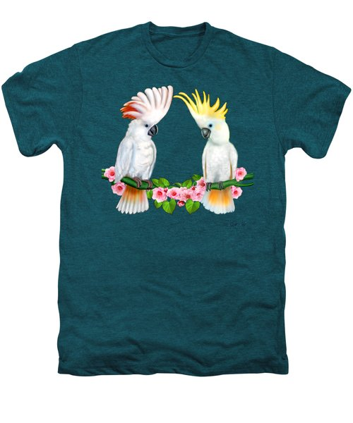 Cockatoo Courtship Men's Premium T-Shirt by Glenn Holbrook