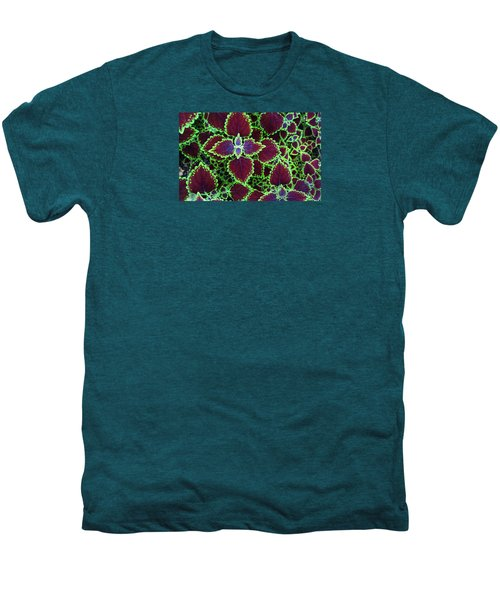 Coleus Leaves Men's Premium T-Shirt by Nareeta Martin