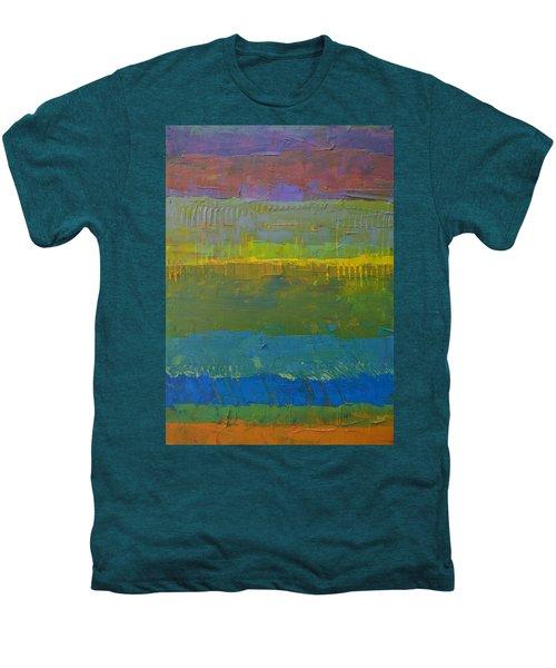 Men's Premium T-Shirt featuring the painting Color Collage Five by Michelle Calkins