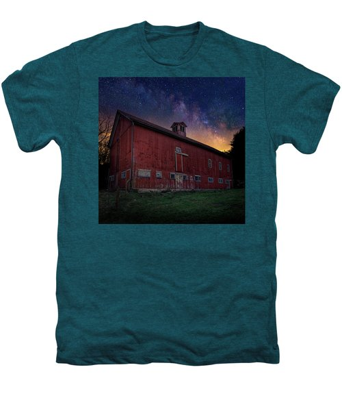 Men's Premium T-Shirt featuring the photograph Cosmic Barn Square by Bill Wakeley