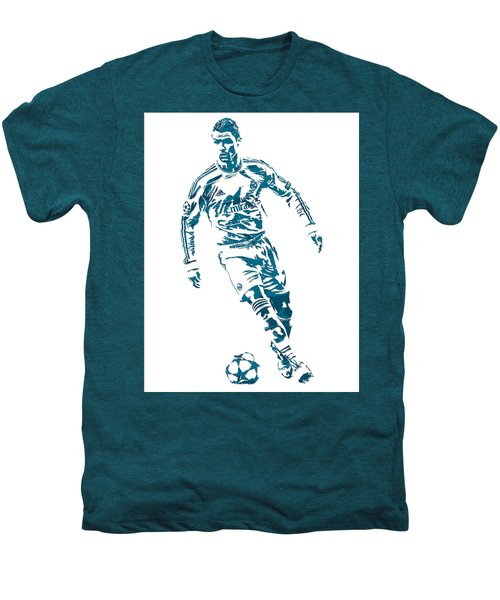 Cristiano Ronaldo Real Madrid Pixel Art 1 Men's Premium T-Shirt