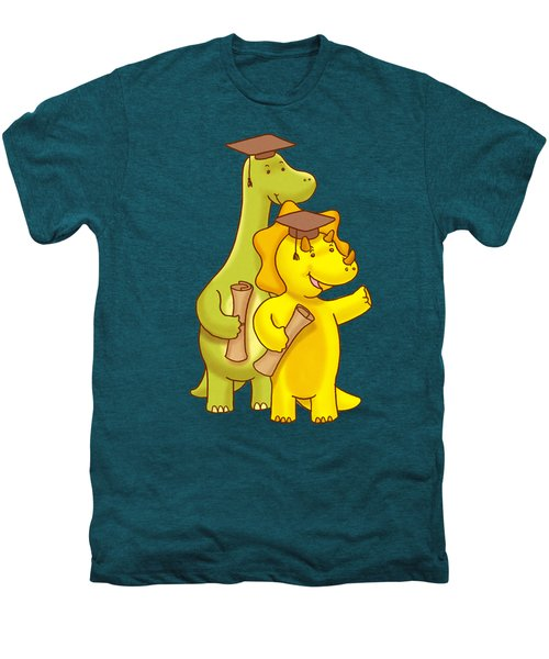 Dinosaur School Graduation Day Men's Premium T-Shirt by Paws Pals