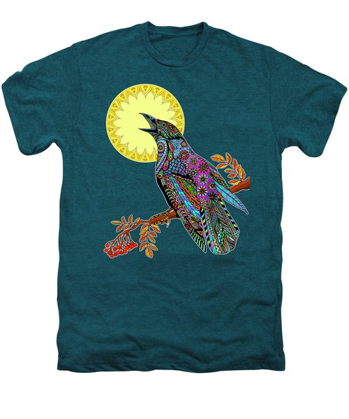 Electric Crow Men's Premium T-Shirt by Tammy Wetzel