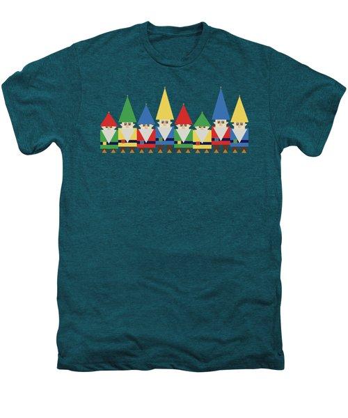 Elves On Blue Men's Premium T-Shirt
