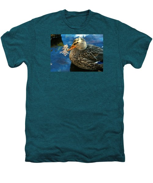 Female Mallard Duck In The Fox River Men's Premium T-Shirt