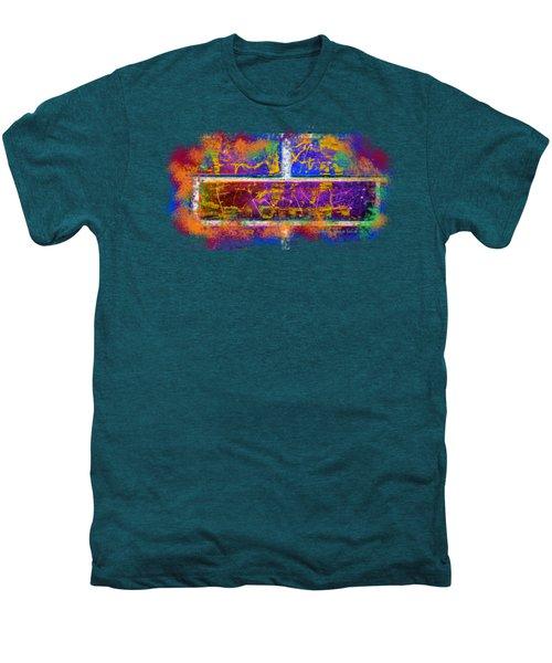 Forgive Brick Blue Tshirt Men's Premium T-Shirt by Tamara Kulish