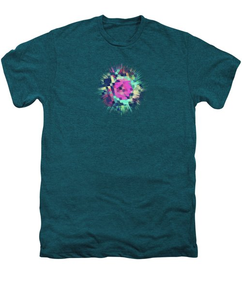 Fruity Rose   Fancy Colorful Abstraction Pattern Design  Green Pink Blue  Men's Premium T-Shirt