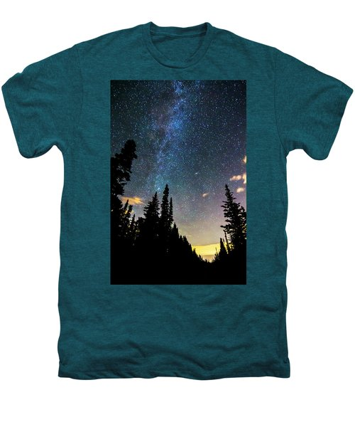 Men's Premium T-Shirt featuring the photograph  Galaxy Rising by James BO Insogna