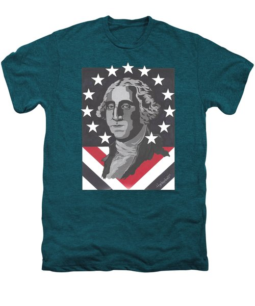 George Washington T-shirt Men's Premium T-Shirt by Herb Strobino