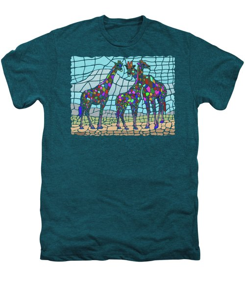 Giraffe Maze Men's Premium T-Shirt