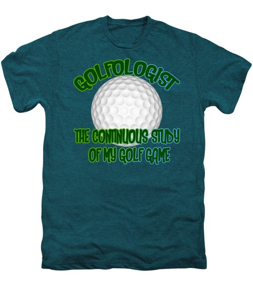 Golfologist Men's Premium T-Shirt by David G Paul