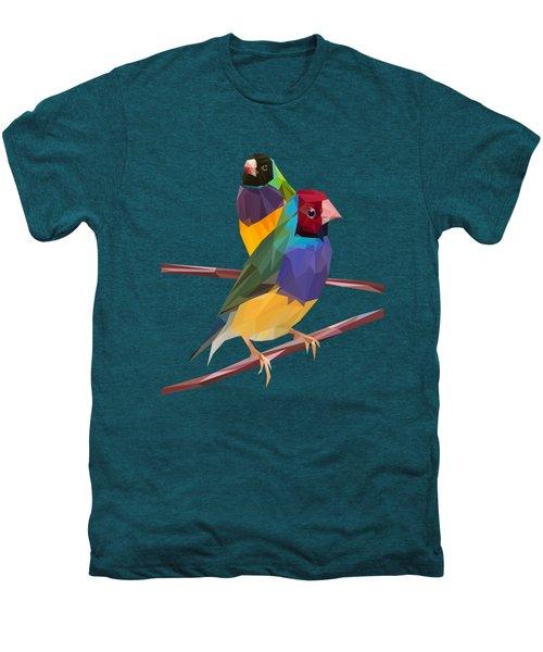 Gouldian Finch Duo Men's Premium T-Shirt by James Bryson