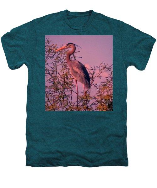 Great Blue Heron - Artistic 6 Men's Premium T-Shirt
