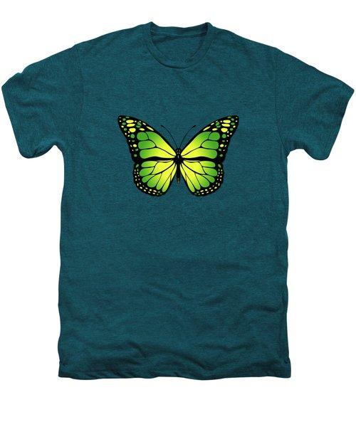 Green Butterfly Men's Premium T-Shirt by Gaspar Avila