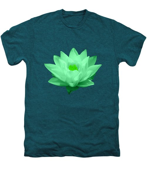 Green Lily Blossom Men's Premium T-Shirt by Shane Bechler
