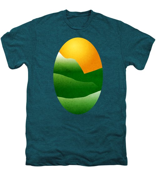 Green Mountain Sunrise Landscape Art Men's Premium T-Shirt by Christina Rollo