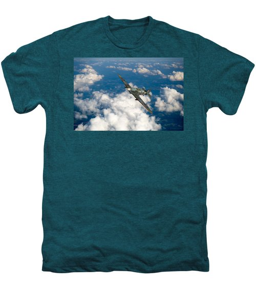 Men's Premium T-Shirt featuring the photograph Hawker Hurricane IIb Of 174 Squadron by Gary Eason