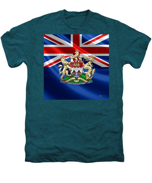 Hong Kong - 1959-1997 Coat Of Arms  Men's Premium T-Shirt