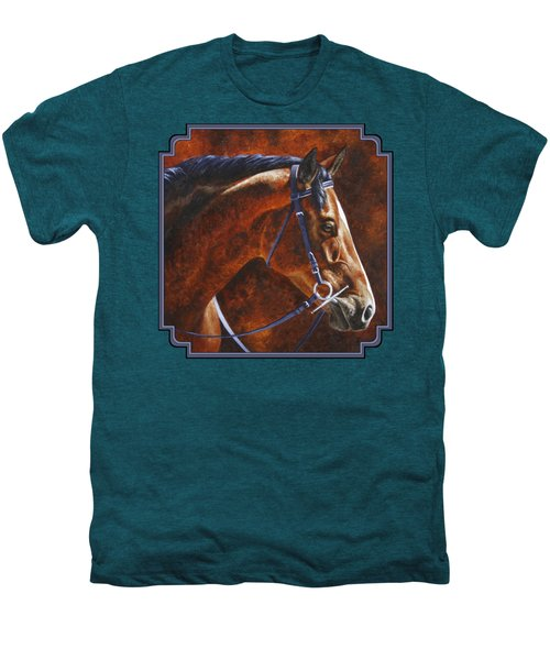 Horse Painting - Ziggy Men's Premium T-Shirt by Crista Forest