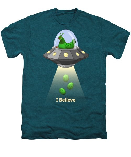I Believe In Green Chicken Aliens Men's Premium T-Shirt