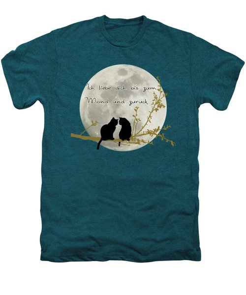 Ich Liebe Dich Bis Zum Mond Und Zuruck  Men's Premium T-Shirt