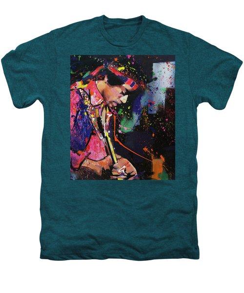 Jimi Hendrix II Men's Premium T-Shirt by Richard Day