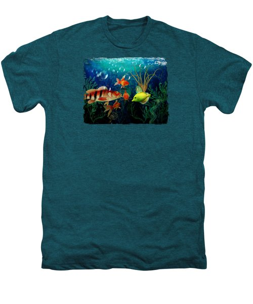 Joy To The Fishes  Men's Premium T-Shirt by Terry Fleckney
