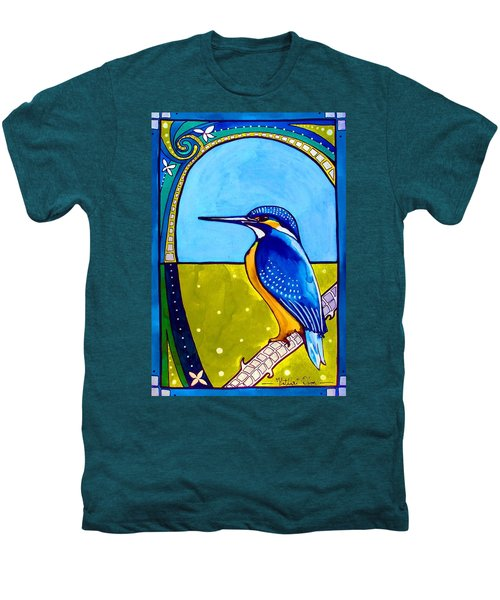 Kingfisher Men's Premium T-Shirt by Dora Hathazi Mendes