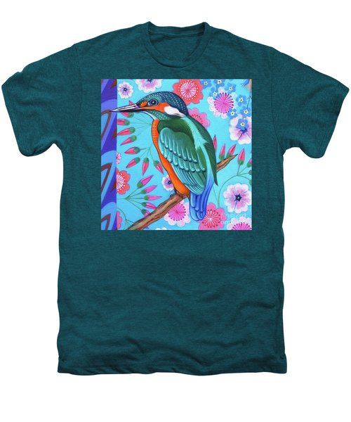 Kingfisher Men's Premium T-Shirt by Jane Tattersfield
